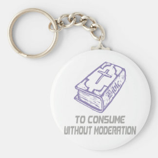 To consume without modération Lilas gris Keychain