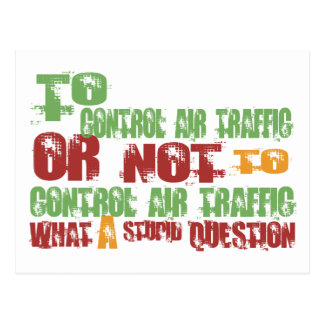 To Control Air Traffic Postcard