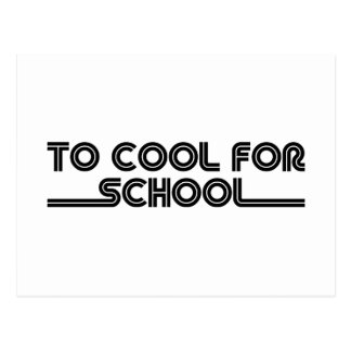 To Cool For School Postcard