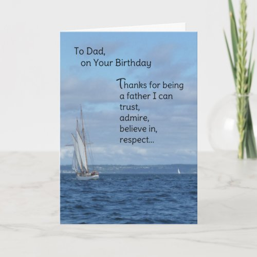 To Dad On Your Birthday Card