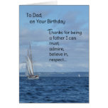 To Dad, On Your Birthday Greeting Card