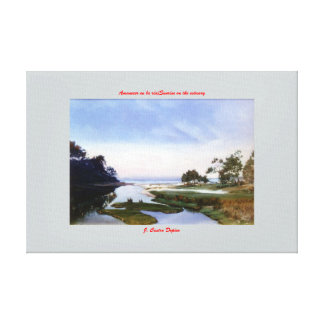 To dawn in laughs/Sunrise on the estuary Canvas Print