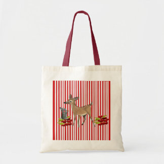 to deer and rabbit budget tote bag