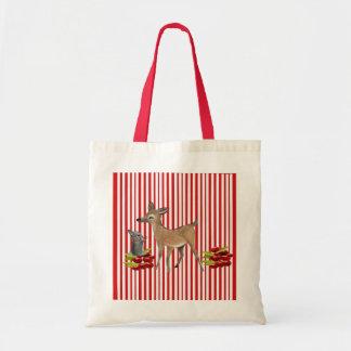 to deer and rabbit tote bag