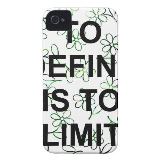 TO DEFINE IS TO LIMIT.jpg iPhone 4 Protectores