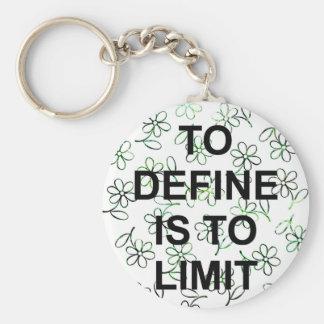 TO DEFINE IS TO LIMIT.jpg Llavero Redondo Tipo Pin