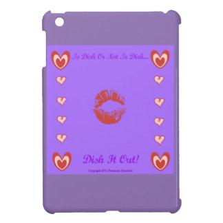 To Dish Or Not To Dish by Diamante Lavendar iPad Mini Case