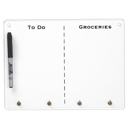 to do and grocery list reminder diy custom title dry erase board with keychain holder