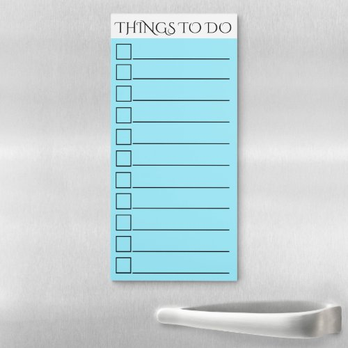 To do checklist  lined check box blue magnetic notepad