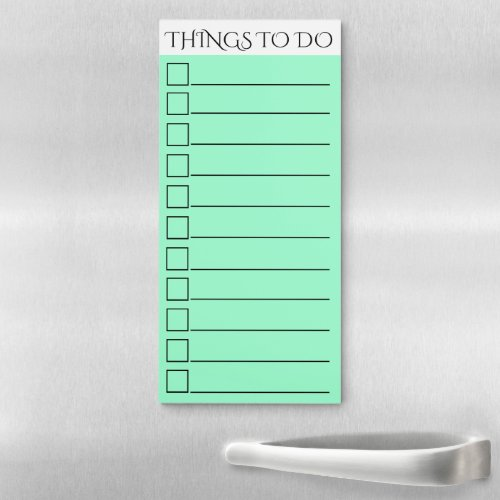 To do checklist  lined check box green magnetic notepad