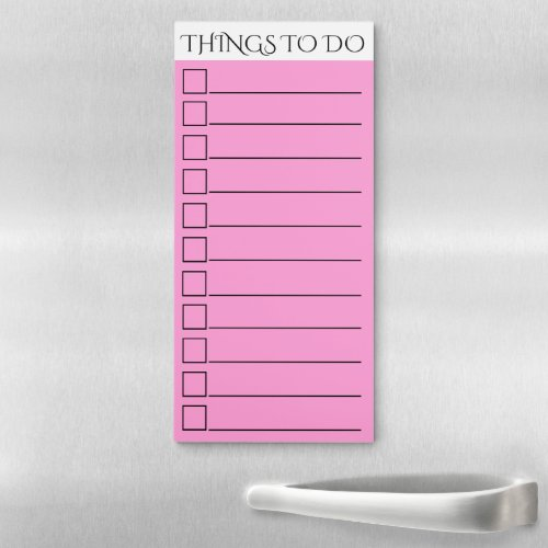 To do checklist  lined check box pink magnetic notepad