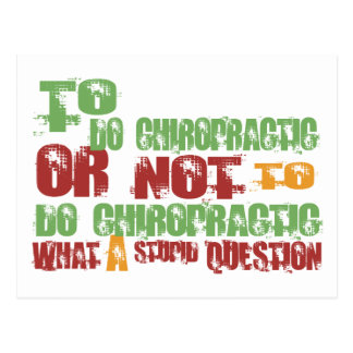 To Do Chiropractic Postcard