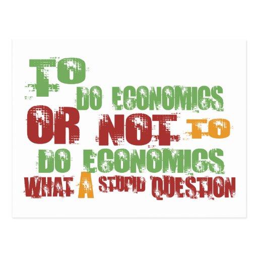 To Do Economics Postcard