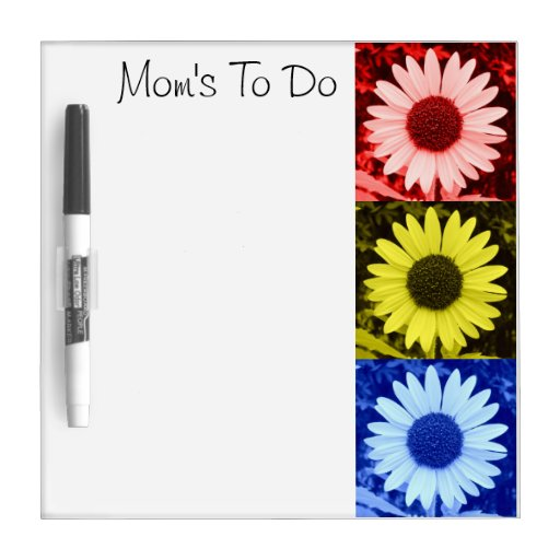 To Do Flower Board Dry-Erase Whiteboards