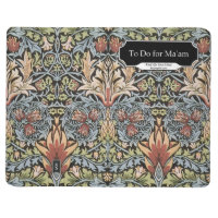 'To Do for Ma'am' journal William Morris Snakeshead
