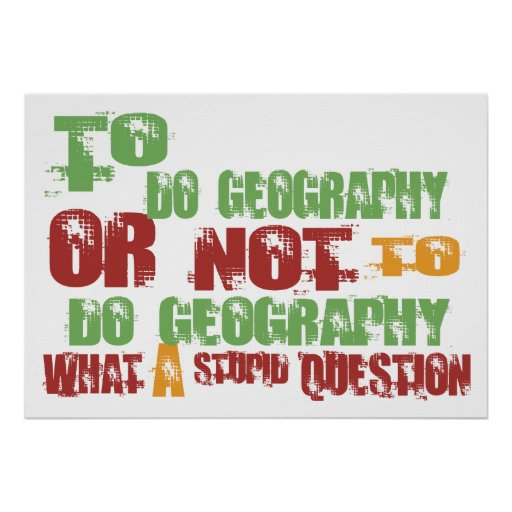 To Do Geography Posters