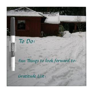 To Do Gratitude and Fun Hamma Hamma Guard Station Dry-Erase Board