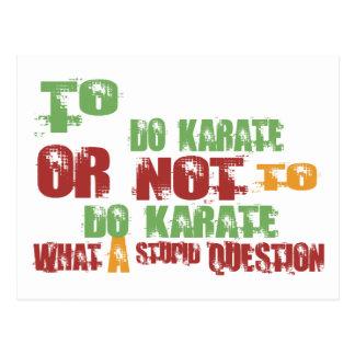 To Do Karate Postcard