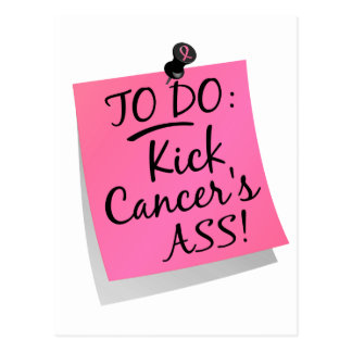 To Do - Kick Cancer's Ass Breast Postcard