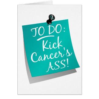 To Do - Kick Cancer's Ass Cervical Card