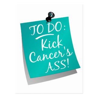 To Do - Kick Cancer's Ass Cervical Postcard