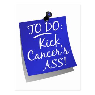 To Do - Kick Cancer's Ass Colon Postcard