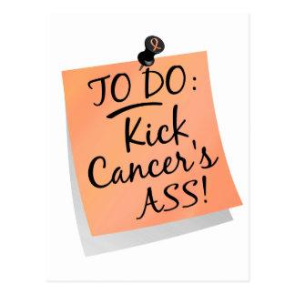 To Do - Kick Cancer's Ass Endometrial Postcard