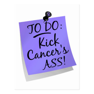 To Do - Kick Cancer's Ass Esophageal Postcard