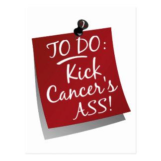 To Do - Kick Cancer's Ass Head Neck Postcard