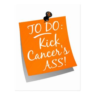 To Do - Kick Cancer's Ass Kidney Postcard