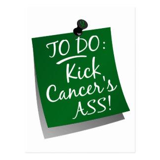 To Do - Kick Cancer's Ass Liver Postcard