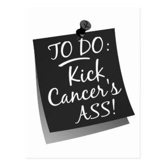 To Do - Kick Cancer's Ass Melanoma Postcard