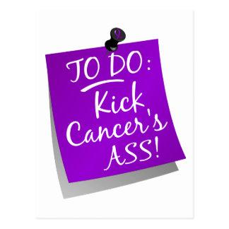 To Do - Kick Cancer's Ass Pancreatic Postcard