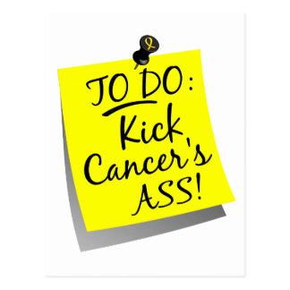 To Do - Kick Cancer's Ass Sarcoma Postcard