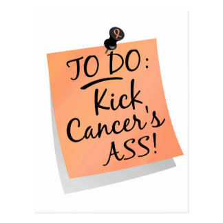 To Do - Kick Cancer's Ass Uterine Postcard