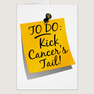 To Do - Kick Cancer's Tail Childhood Card