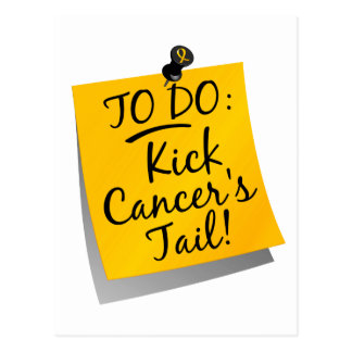 To Do - Kick Cancer's Tail Childhood Postcard