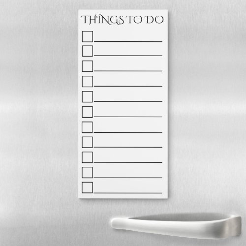 To do lined with black square check box white magnetic notepad