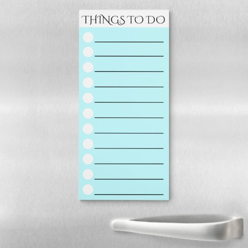 To do lined with white circle check box CUSTOMIZE Magnetic Notepad