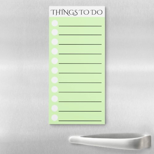To do lined with white circle check box green magnetic notepad