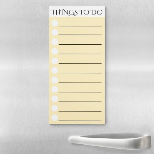 To do lined with white circle check box orange magnetic notepad