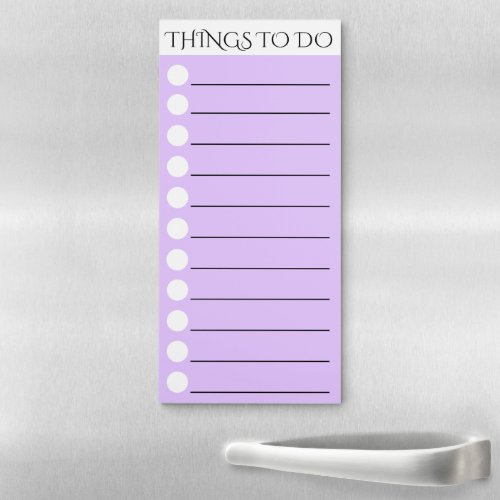 To do lined with white circle check box purple magnetic notepad