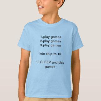 To do list1.play games2.play games 3.play games... T-Shirt