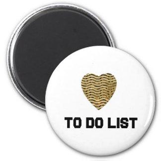To DO List 2 Inch Round Magnet