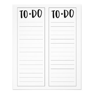 """To-Do List (4.5"""" x 5.6"""") Flyer"""