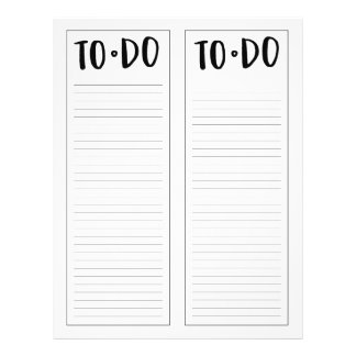 """To-Do List (8.5"""" x 11"""") Flyer"""