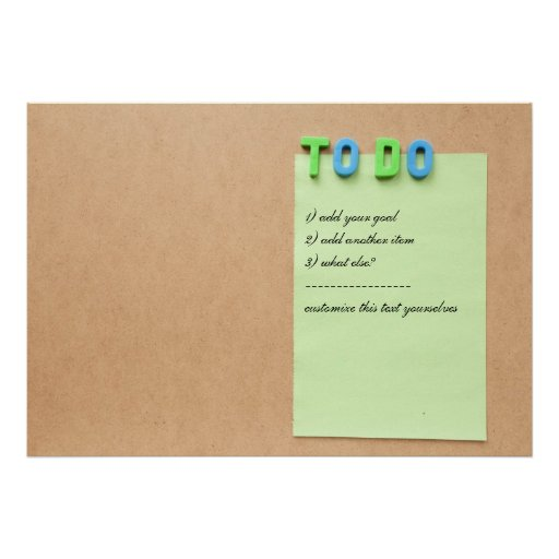 TO DO list - customize with your own items Poster