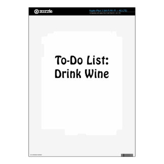 To Do List Drink Wine iPad 3 Decal