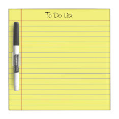 To Do List Dry-erase Board at Zazzle