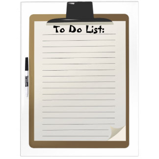 To Do List Dry Erase Board
